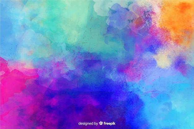Abstracte achtergrond in de hand geschilderde stijl Gratis Vector