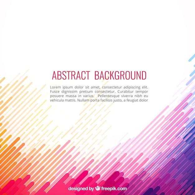 Abstracte achtergrond in kleurrijke stijl Gratis Vector