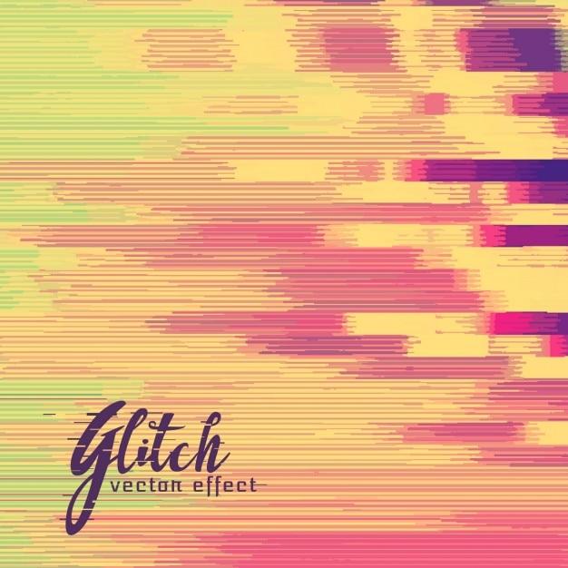 Abstracte achtergrond in warme kleuren, glitch effect Gratis Vector