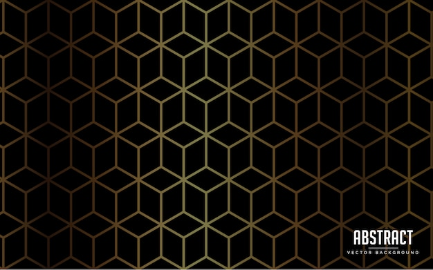Abstracte achtergrond luxe zwarte kleur en gouden kleur modern Premium Vector