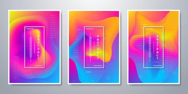 Abstracte achtergrond met 3 verschillende ontwerpkeuzes. Premium Vector