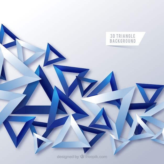 Abstracte achtergrond met 3D-driehoeken Gratis Vector