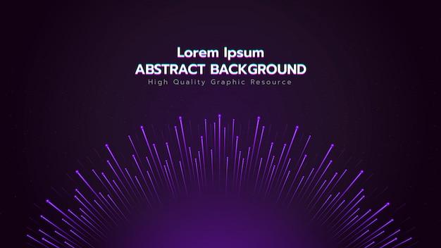 Abstracte achtergrond met deeltjes verspreiden. Premium Vector
