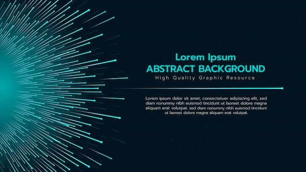 Abstracte achtergrond met deeltjes verspreiding van grote groep. Premium Vector