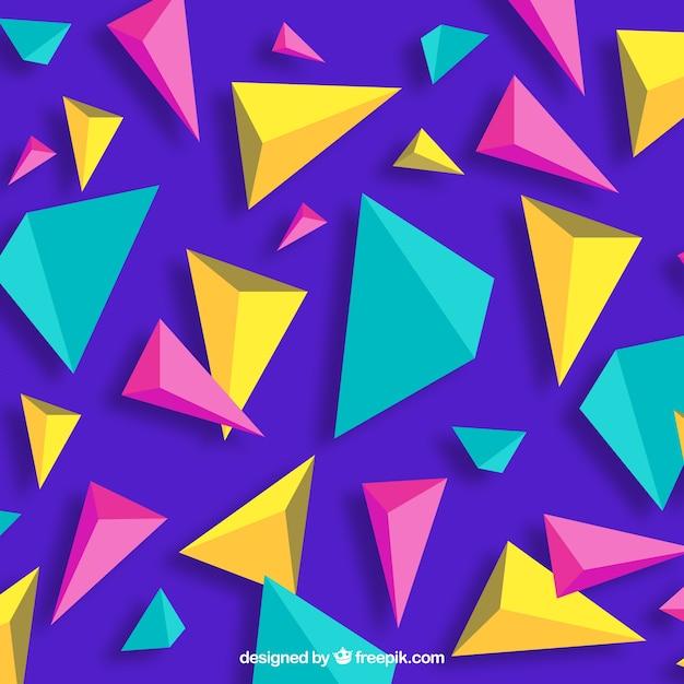 Abstracte achtergrond met driehoekige vormen Gratis Vector