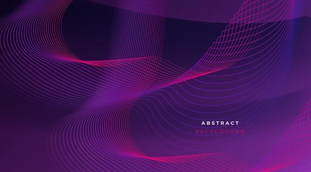 Abstracte achtergrond met dynamische lijnen Gratis Vector