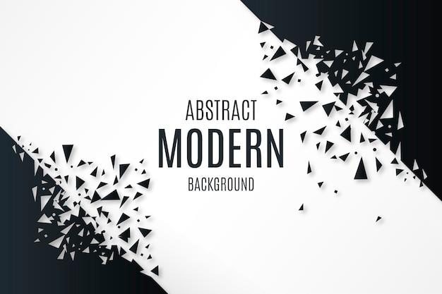 Abstracte achtergrond met gebroken vormen Gratis Vector
