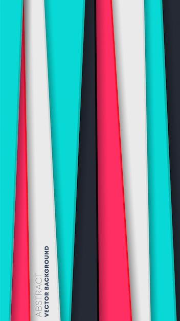 Abstracte achtergrond met gekleurde strepen Premium Vector