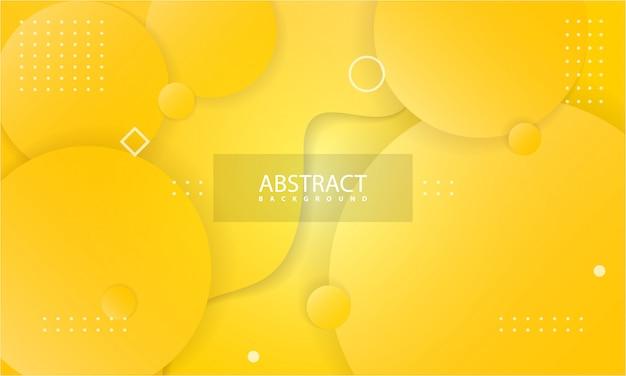 Abstracte achtergrond met gele kleur Premium Vector
