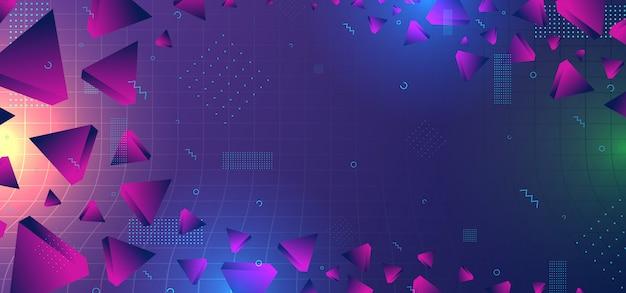Abstracte achtergrond met geometrische kleurrijke gradiëntkleuren Premium Vector