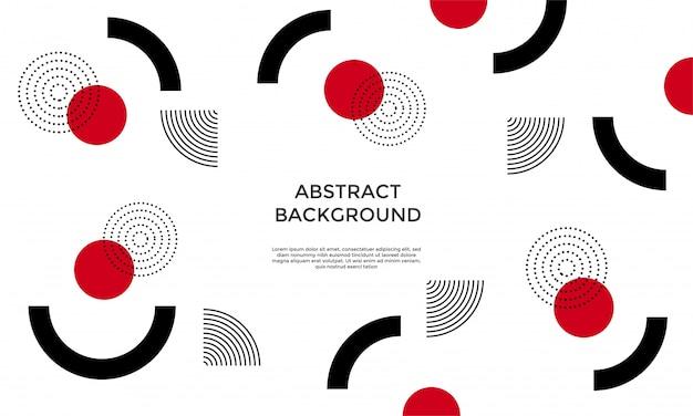 Abstracte achtergrond met geometrische vormen Premium Vector