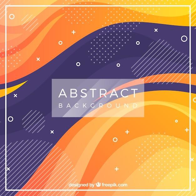 Abstracte achtergrond met golven en kleuren Gratis Vector