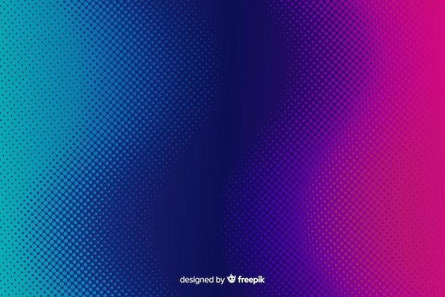 Abstracte achtergrond met gradiënt halftone effect Premium Vector