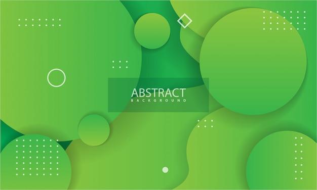 Abstracte achtergrond met groene kleur. Premium Vector