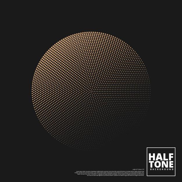 Abstracte achtergrond met halftone ontwerp. Premium Vector