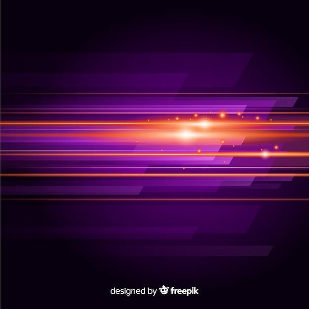 Abstracte achtergrond met horizontale lichte beweging Gratis Vector