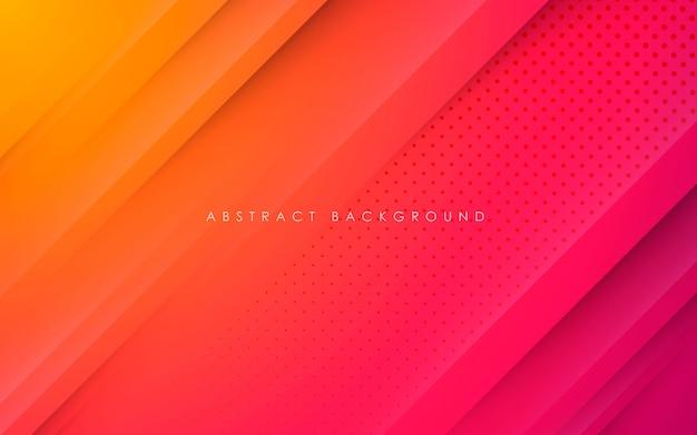 Abstracte achtergrond met kleurovergang papercut vorm Premium Vector