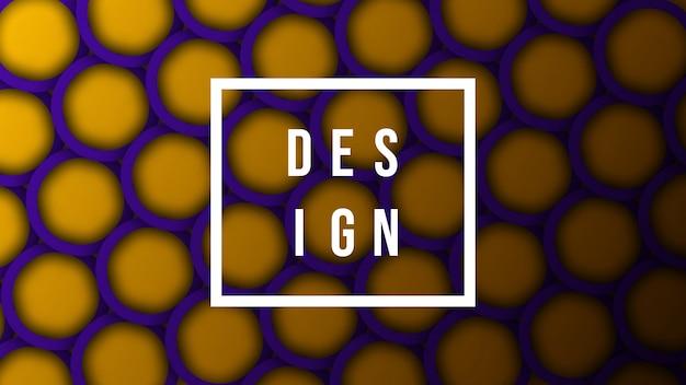 Abstracte achtergrond met kleurrijke afgeronde vormen Premium Vector