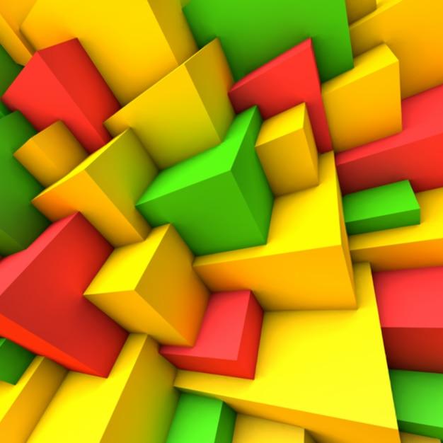 Abstracte achtergrond met kleurrijke kubussen Premium Vector