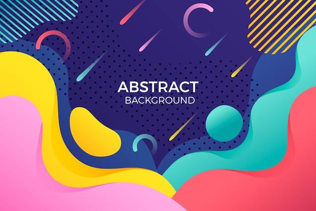 Abstracte achtergrond met kleurrijke regenachtige lijnen Gratis Vector