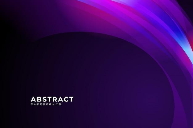 Abstracte achtergrond met paarse golf en vloeistof ontwerpelement voor uw poster, banner, brochure, bestemmingspagina. Premium Vector