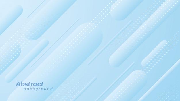 Abstracte achtergrond met ronde lijnen en diagonale stippen. Premium Vector
