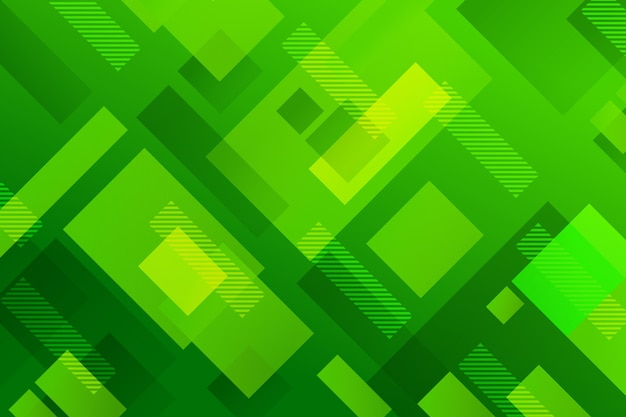 Abstracte achtergrond met verschillende groene vormen Gratis Vector