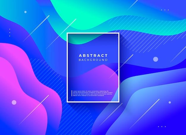 Abstracte achtergrond met vloeibare vormensamenstelling Gratis Vector
