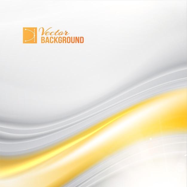 Abstracte achtergrond met zijde en gouden golven. Gratis Vector