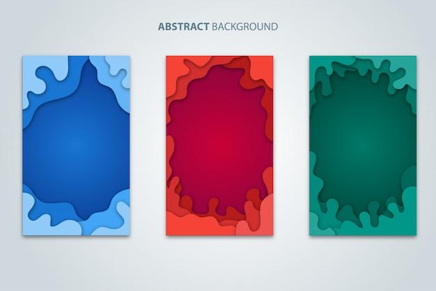 Abstracte achtergrond papier knippen Premium Vector