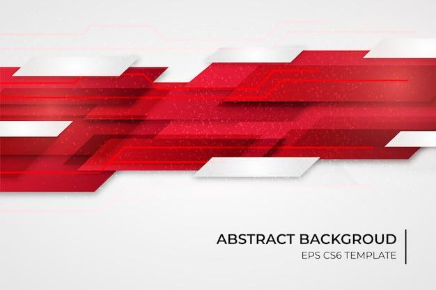 Abstracte achtergrond sjabloon met rode vormen Gratis Vector