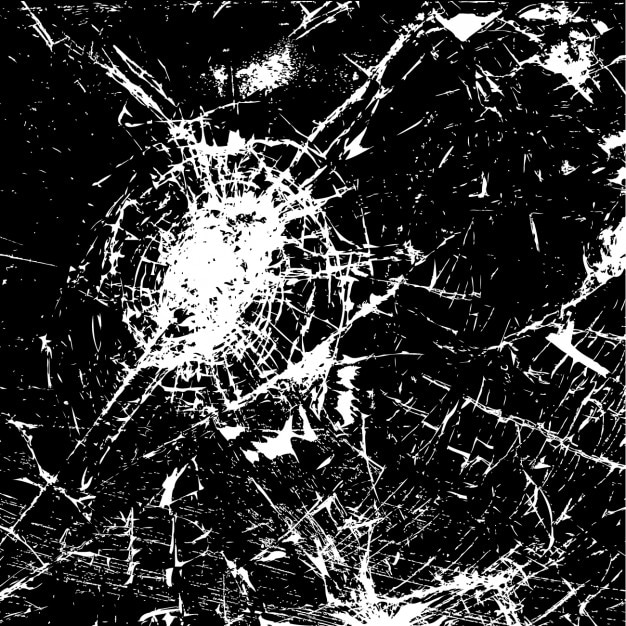Abstracte achtergrond van gebarsten glas Gratis Vector