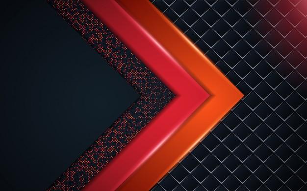 Abstracte achtergrond van het luxe de donkerblauwe kader met schittert element Premium Vector