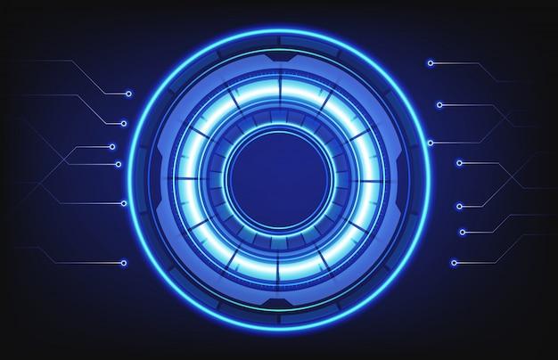 Abstracte achtergrond van hud technologie intelligent interface verbindingsgat Premium Vector