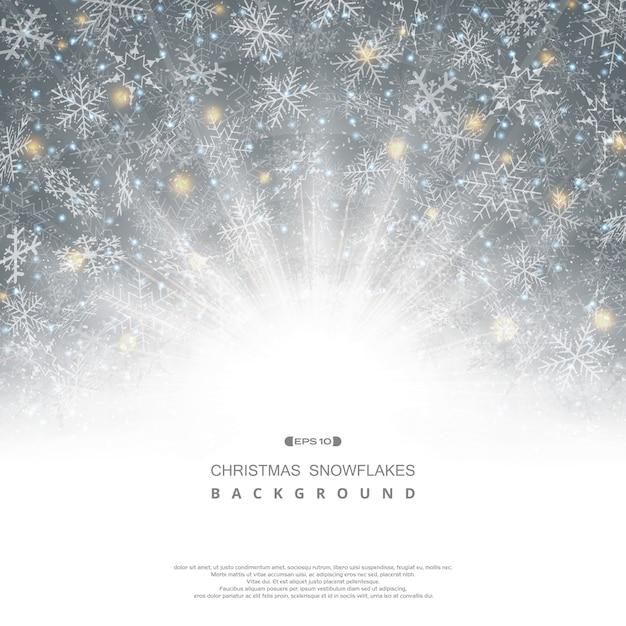 Abstracte achtergrond van kerstmis sneeuwvlokken patroon Premium Vector