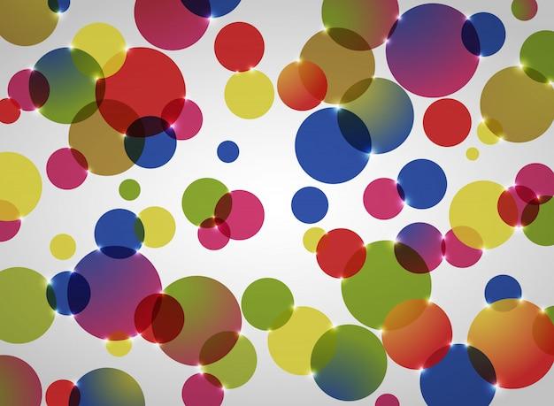 Abstracte achtergrond van kleurrijk cirkelpatroon. Premium Vector