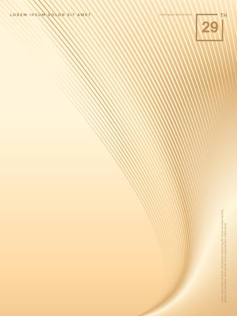 Abstracte achtergrond van luxe gouden lijnen, brochureachtergrond Premium Vector