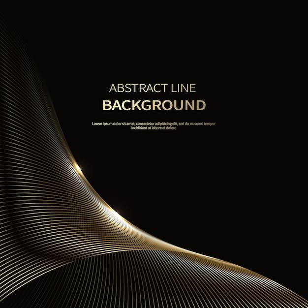Abstracte achtergrond van luxe gouden lijnen Premium Vector
