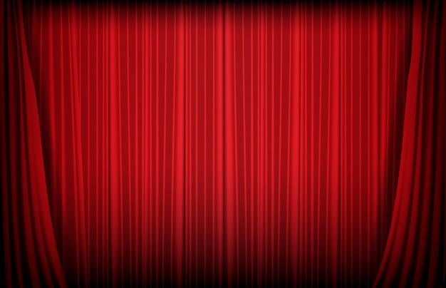Abstracte achtergrond van rood gordijn Premium Vector
