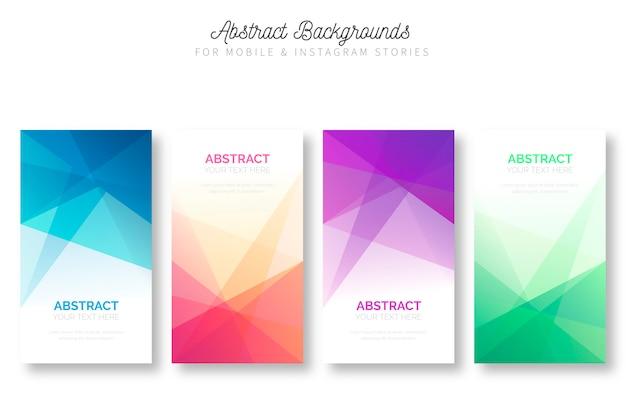Abstracte achtergrond voor mobiele en Instagramverhalen Gratis Vector