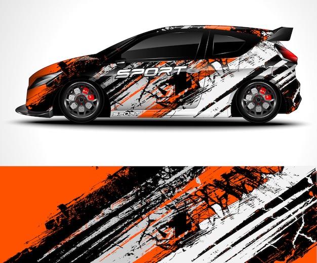 Abstracte achtergrond voor racen sport car wrap ontwerp en voertuig kleurstelling Premium Vector
