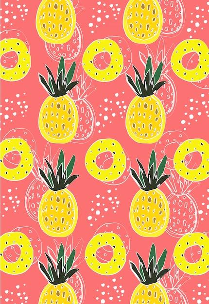 Abstracte ananas Premium Vector