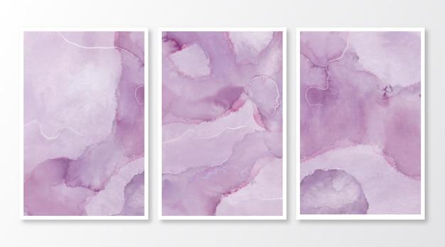 Abstracte aquarel marmeren kaarten Gratis Vector