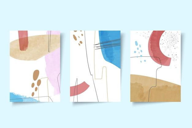 Abstracte aquarel vormen omvat pack Gratis Vector