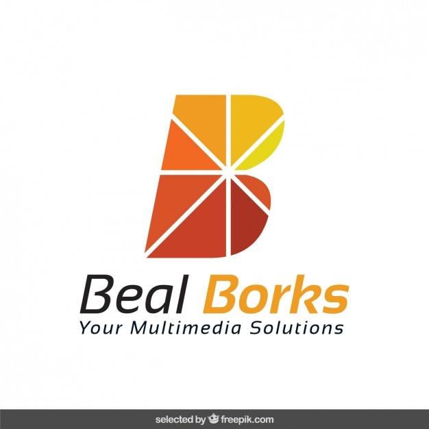 Abstracte b logotype Gratis Vector