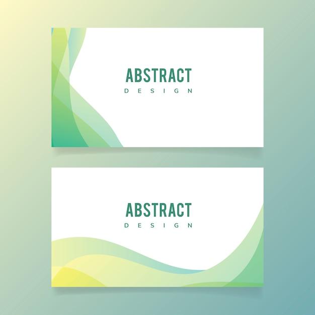 Abstracte banner afbeelding set Gratis Vector