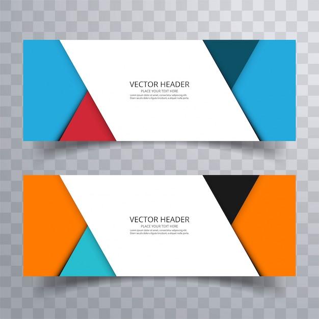 Abstracte banner decorontwerp achtergrond of header sjablonen Gratis Vector