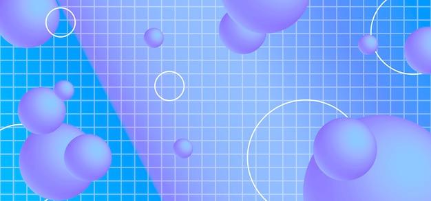Abstracte bannerachtergrond met geometrische vormen. Premium Vector