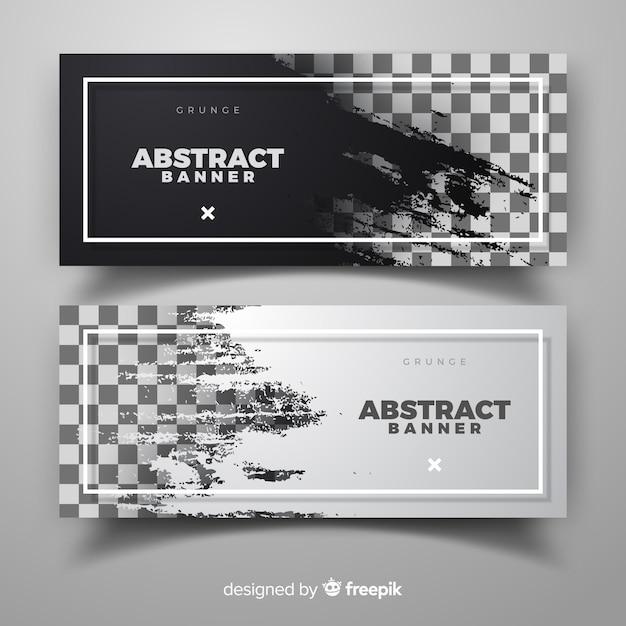Abstracte bannermalplaatje Gratis Vector