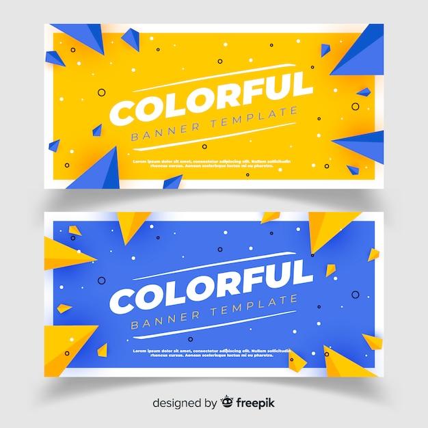 Abstracte banners met platte ontwerp Gratis Vector